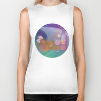 drunk Biker Tanks featuring Drunk Cat by Graphic Tabby