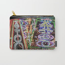 """Tat-two"" Neon Street Art by Murray Bolesta Carry-All Pouch"