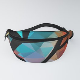 Abstract background of triangles polygon print. Fanny Pack