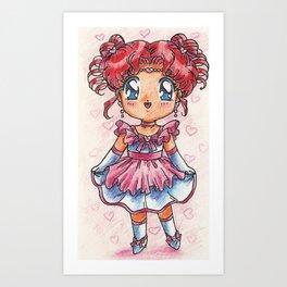 Chibi Chibi in a Cute Dress Art Print