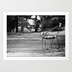 Solitary Park Bench Art Print