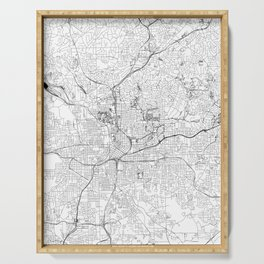 Atlanta White Map Serving Tray