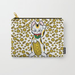 Cat & Coins Carry-All Pouch
