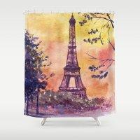 paris Shower Curtains featuring Paris by Anna Shell