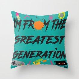 1990 Throw Pillow