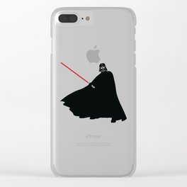Darth Vader Silhouette Clear iPhone Case