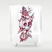 et Shower Curtains featuring Mors et Natura 2.0 by Norman Duenas