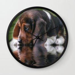 Beagle Cuteness Wall Clock