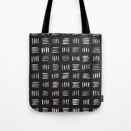 Lines on Lines // white Tote Bag