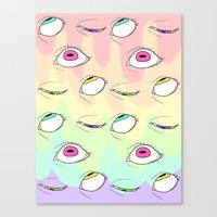 neon Canvas Prints featuring Neon by Pastel Starbombs