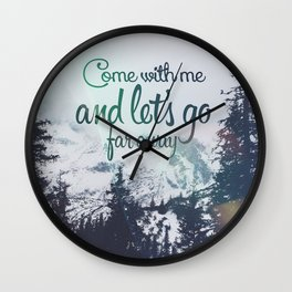 Far away (snow) Wall Clock