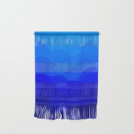 Blue Waves Wall Hanging