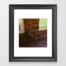bikes on oak st Framed Art Print