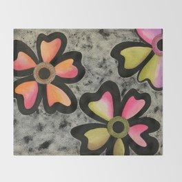 Flowers # 3 Throw Blanket
