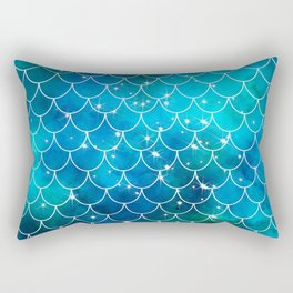 Mermaid Galaxy Scallop Pattern Rectangular Pillow