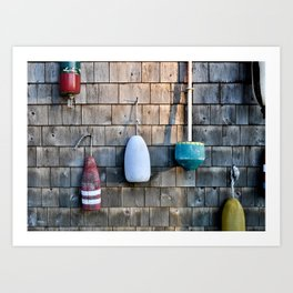 Buoys in Belfast, Maine Art Print