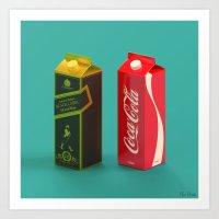whisky Art Prints featuring Whisky Cola by Maxim Kirienko Art