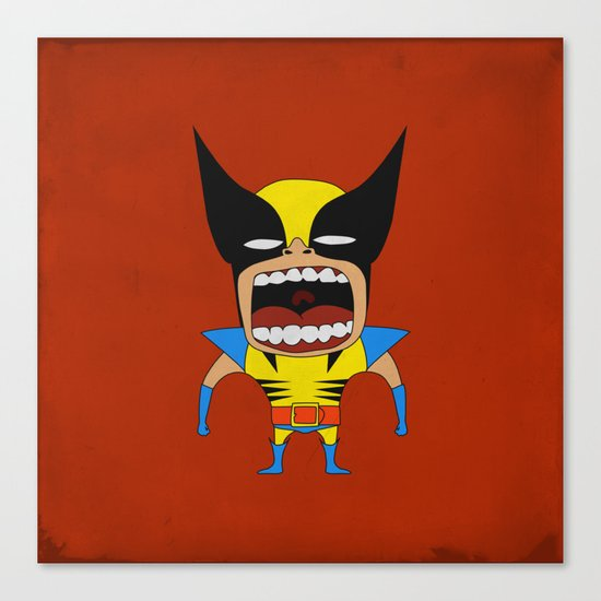 Screaming Wolverine Canvas Print