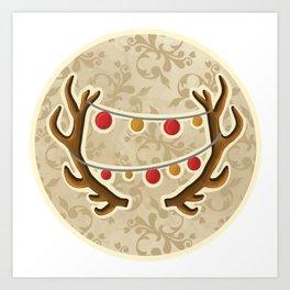 It's Christmas time, deer! Art Print