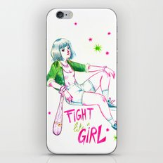 Fight Like A Girl II iPhone & iPod Skin