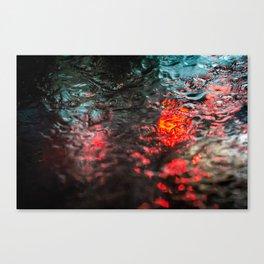 Rain over windshield Canvas Print