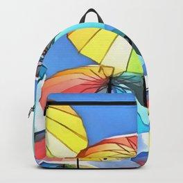 Floating Umbrella Sky Backpack