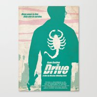 drive Canvas Prints featuring DRIVE by Alain Bossuyt