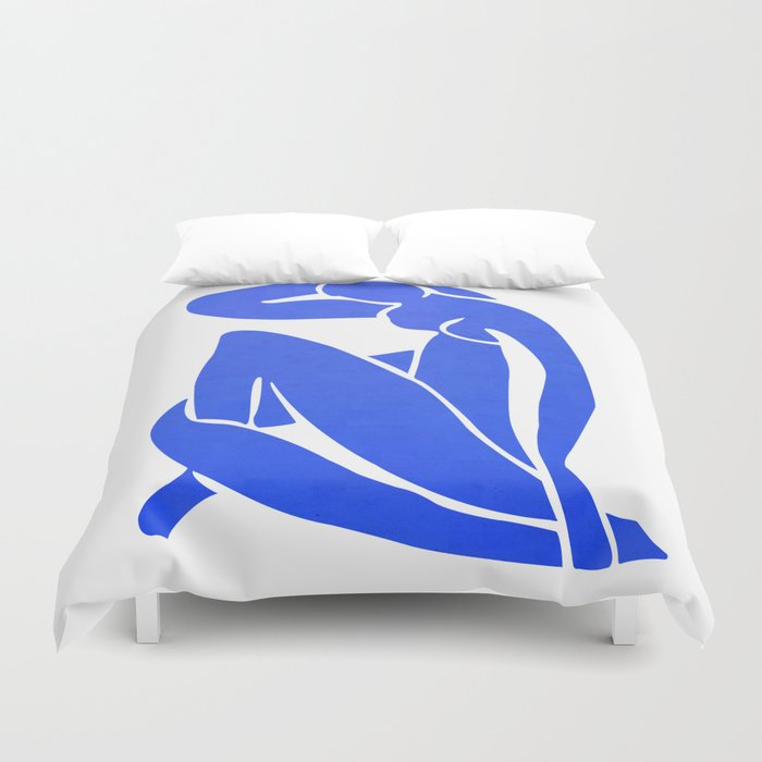 BLUE MATISSE CUT OUT Duvet Cover