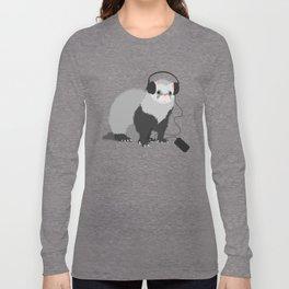Music Loving Ferret Long Sleeve T-shirt