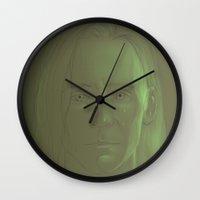loki Wall Clocks featuring Loki by Matthew Bartlett