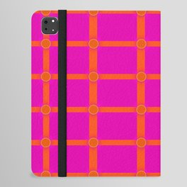 Alium 3 - Delayed Color Contrast Optical Illusion Grid iPad Folio Case