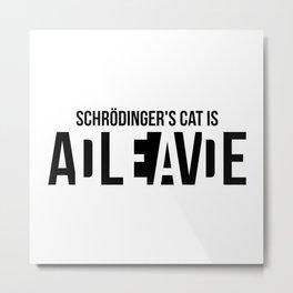 schrodinger Metal Print