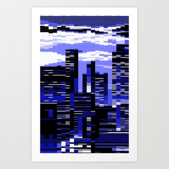 pxl cityscape Art Print