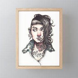 Salander - The Girl with the Dragon Tattoo Framed Mini Art Print