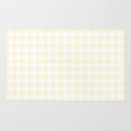 Small Diamonds - White and Cornsilk Yellow Rug