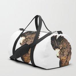 Black cockatoo illustration Duffle Bag