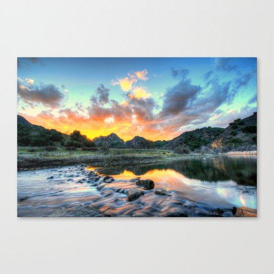 Sunset Landscape #river Canvas Print