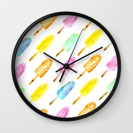 Watercolor popsicles Wall Clock