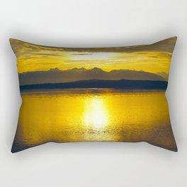 Sunset at Glacier NP Rectangular Pillow