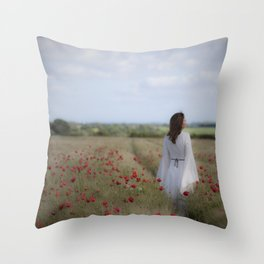 Dreaming in the field Throw Pillow