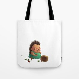 Ella the Hedgehog eating strawberries! Tote Bag