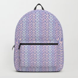 Lilac Abstract Fish Net Loop Pattern Backpack