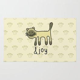 Cute Siamese Cat & Joy Doodle Rug