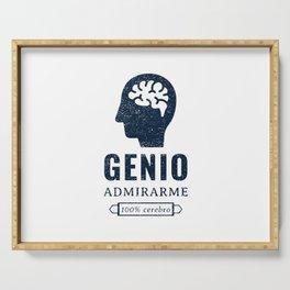 Genio, admirame, 100 % cerebro Serving Tray
