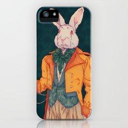 The white rabbit in Wonderland iPhone Case