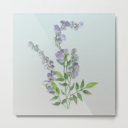 Purple Tiny Flowers Metal Print