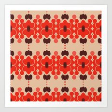 Red pattern rouge 6 Art Print