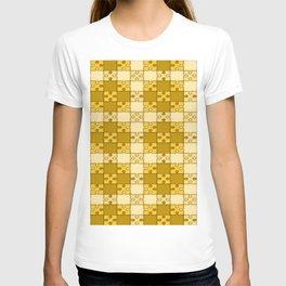 Puzzle Pattern,yellow T-shirt
