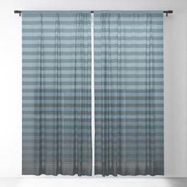 Stripeylicious OceanBlue Sheer Curtain
