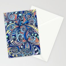 Drawing floral abstract background G7 Stationery Cards